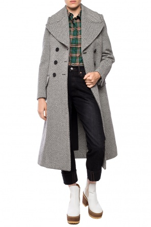 Double-breasted coat with pockets od Burberry
